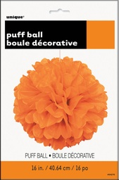 Orange Decorative Puff 40cm
