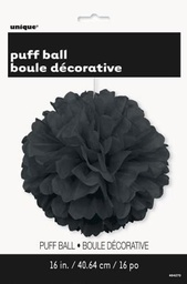 Black Decorative Puff 40cm