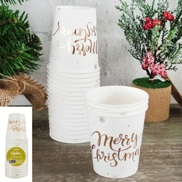 Gold Christmas Paper Cups 12 pack - Shmick