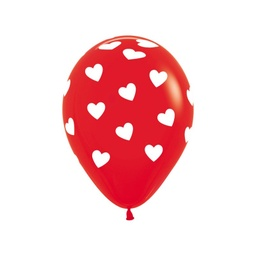 Red Hearts Balloon 30cm