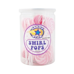Pink Mini Swirl Lollipops 24 pack (288g)