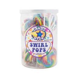 Rainbow Mini Swirl Lollipops 24 pack (288g)