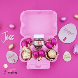 Pink Lindt Easter Egg Carton Hamper