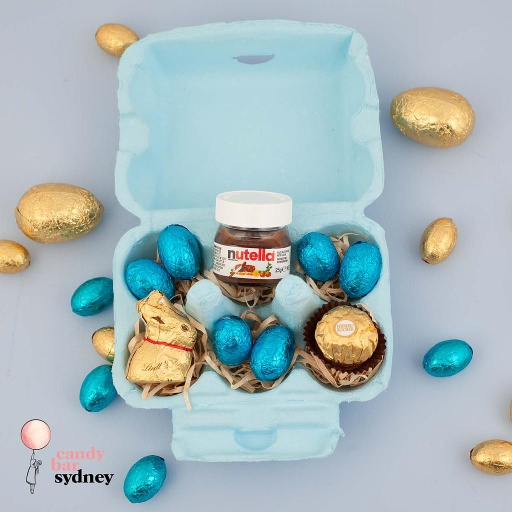 Blue Lindt Easter Egg Carton Hamper