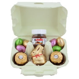 Yellow Lindt Easter Egg Carton Hamper