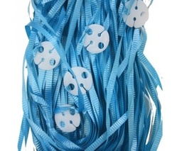 Turquoise Pre-Tied Ribbons With Clips