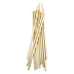 Metallic Gold Straws 10 Pack