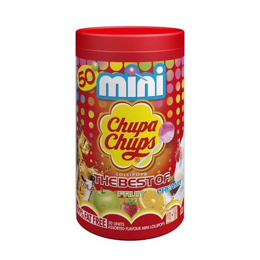 Mini Chupa Chups Lollipops 50 Pack