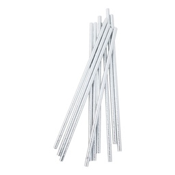 Metallic Silver Straws 10 Pack