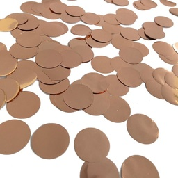 Rose Gold Paper Confetti Circles 15g