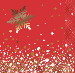 Gold Sparkle xmas Beverage Napkins