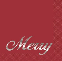 Elegant Red xmas Beverage Napkins
