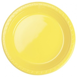 Canary Yellow Round Banquet Plates 20pk