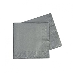 Metallic Silver Cocktail Napkins 50pk