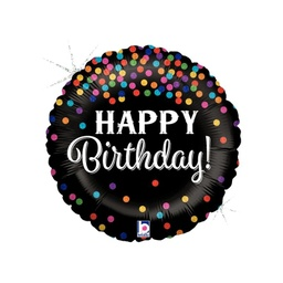 Glitter Confetti Happy Birthday Foil Balloon 46cm