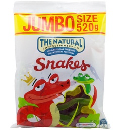 Natural Confectionery Company Snakes 520g
