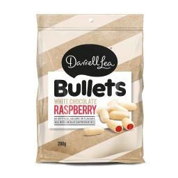 Darrell Lea White Chocolate Raspberry Bullets 200g