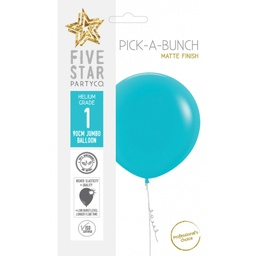 Matte Carribbean Blue Balloon 90cm