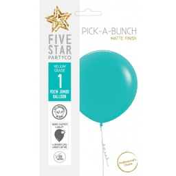 Matte Classic Turquoise Round Balloon 90cm