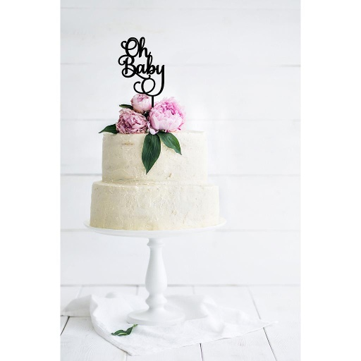 Oh Baby' Baby Shower Cake Topper - Style 1
