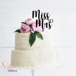 Miss to Mrs Wedding Cake Topper