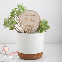 Teacher's Gift Personalised Planter Stick Style 2