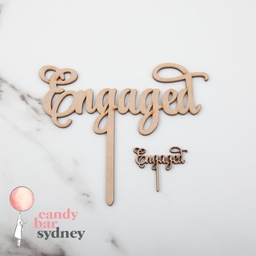 Engaged Cupcake Toppers 5 Pack