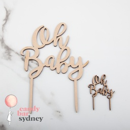 Oh Baby' Baby Shower Cupcake Toppers 5 Pack