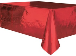 Metallic Red Plastic Tablecover