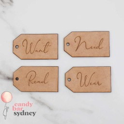 Modern Four Present Rule Gift Tags