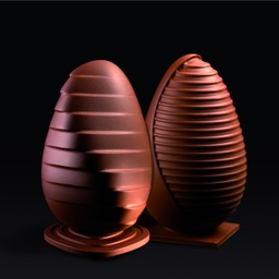 Pavoni KT90 Ribbed Chocolate Easter Egg Mould Thermoformed