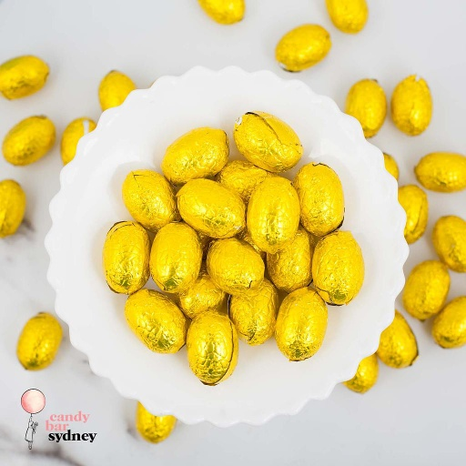 Yellow Gold Milk Chocolate Easter Eggs Bulk