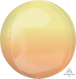 Ombre Yellow and Orange Orbz Foil Balloon