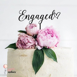 Engaged Cake Topper Style 3