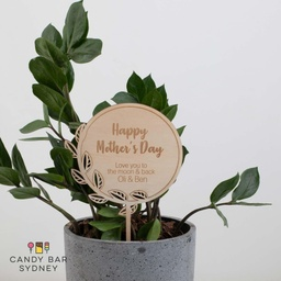 Personalised Mother's Day Planter Stick Style 1
