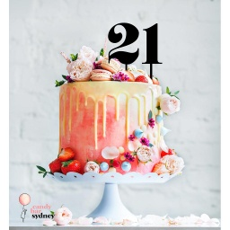 Single Number Cake Topper Style 2