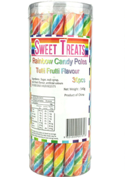 Rainbow Candy Poles 30 Pack