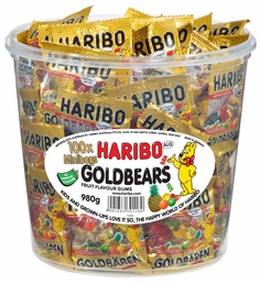 Haribo Goldbears Drum - 100 Mini Bags