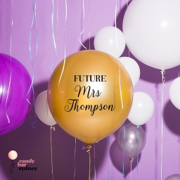 Future Mrs Personalised Wedding Balloon Decal