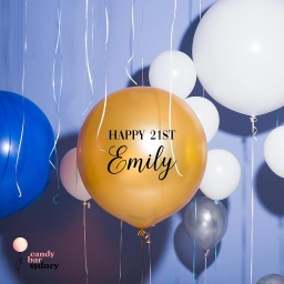 Personalised 21st Birthday Balloon Decal