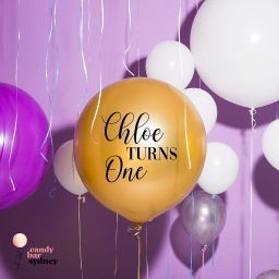 Personalised Birthday Balloon Decal - Any Name And Age Style 2