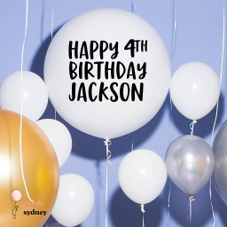 Personalised Birthday Balloon Decal - Style 2