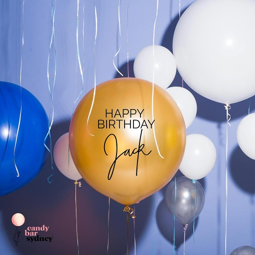 Custom Birthday Balloon Decal