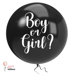 Gender Reveal Balloon Decal - Boy or Girl?