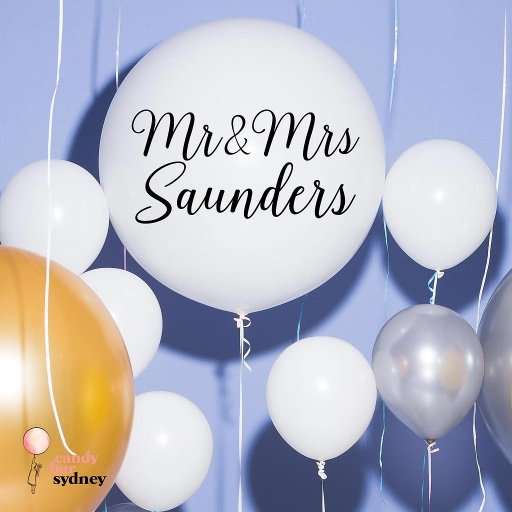 Mr & Mrs Custom Wedding Balloon Decal