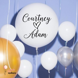 Custom Couples Names Balloon Decal - Style 2