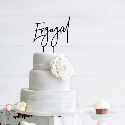 Engaged Cake Topper - Style 4