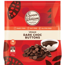 Sweet William Compound Dark Chocolate Baking Buttons 300g