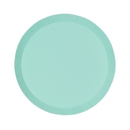 Mint Green Paper Snack Plate 10pk