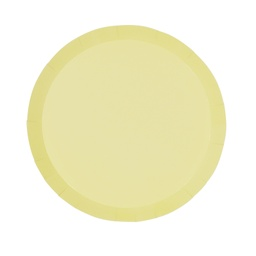 Pastel Yellow Paper Snack Plate 10pk
